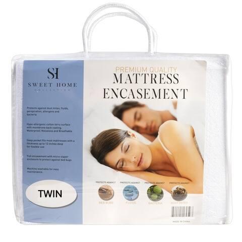 Waterproof Bed Bug Proof Cotton Terry Mattress Encasement Protector