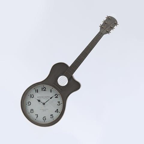 Metal Guitar Wall Clock