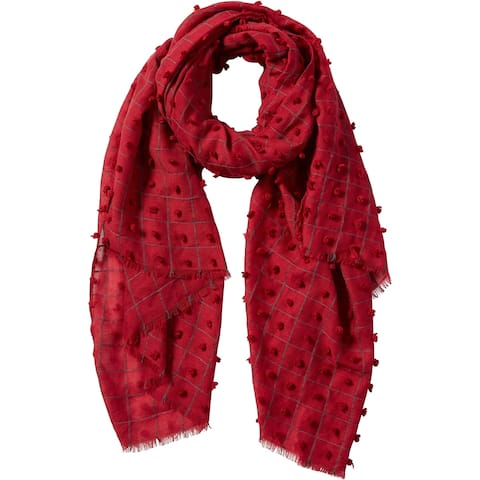 Tickled Pink Knotted Squares Scarf