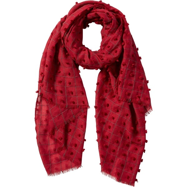 Tickled Pink Knotted Squares Scarf. Opens flyout.