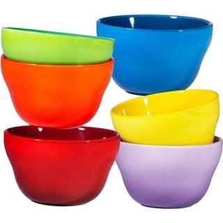 Porcelain Dessert Bowls Set 8 Oz Durable Ceramic Bowls set of 6