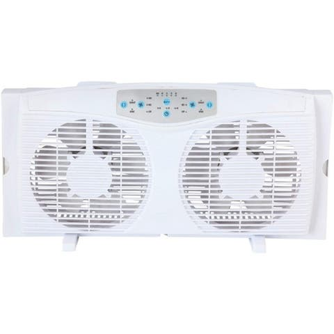 "Optimus 8"" Reversible Twin Window Fan F-5286"