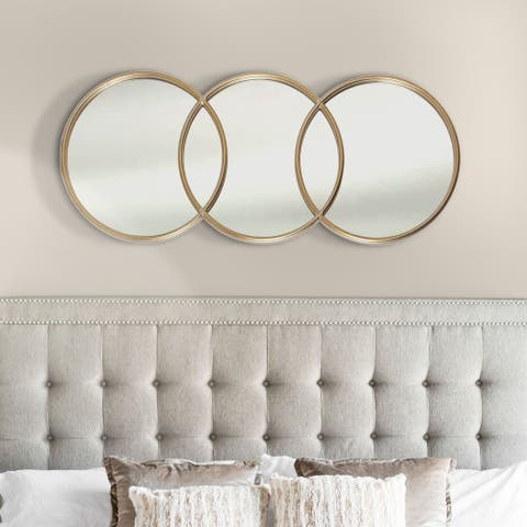 Abbyson Olympic Gold Round Wall Mirror