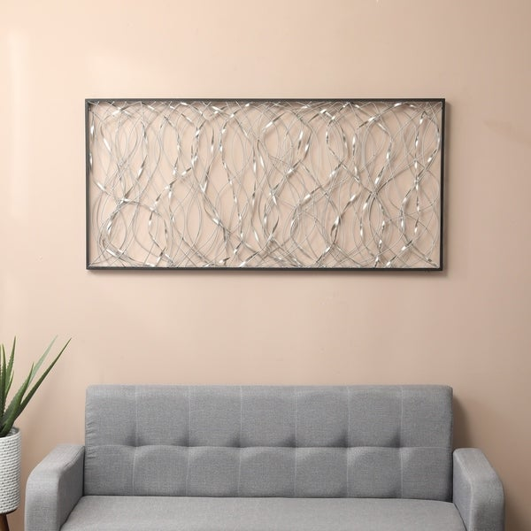 Metal Infinity Rectangular Wall Decor
