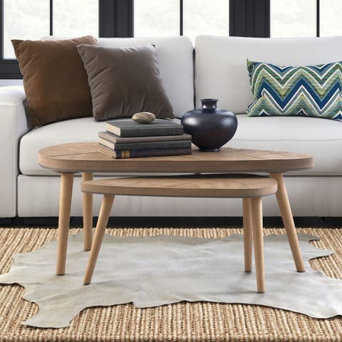 Adore Decor Ivey Coffee Table, Set of 2, Beige