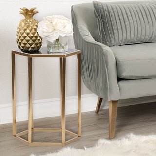 Abbyson Dammes Gold End Table