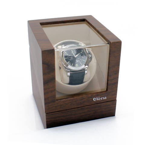 Versa Elite Single Watch Winder in Walnut