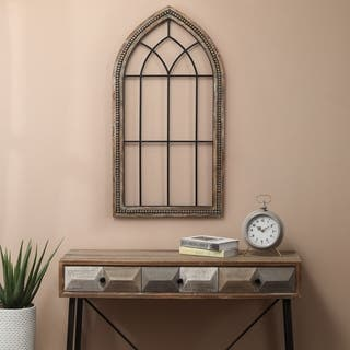 Wood and Metal Cathedral Wall Decor