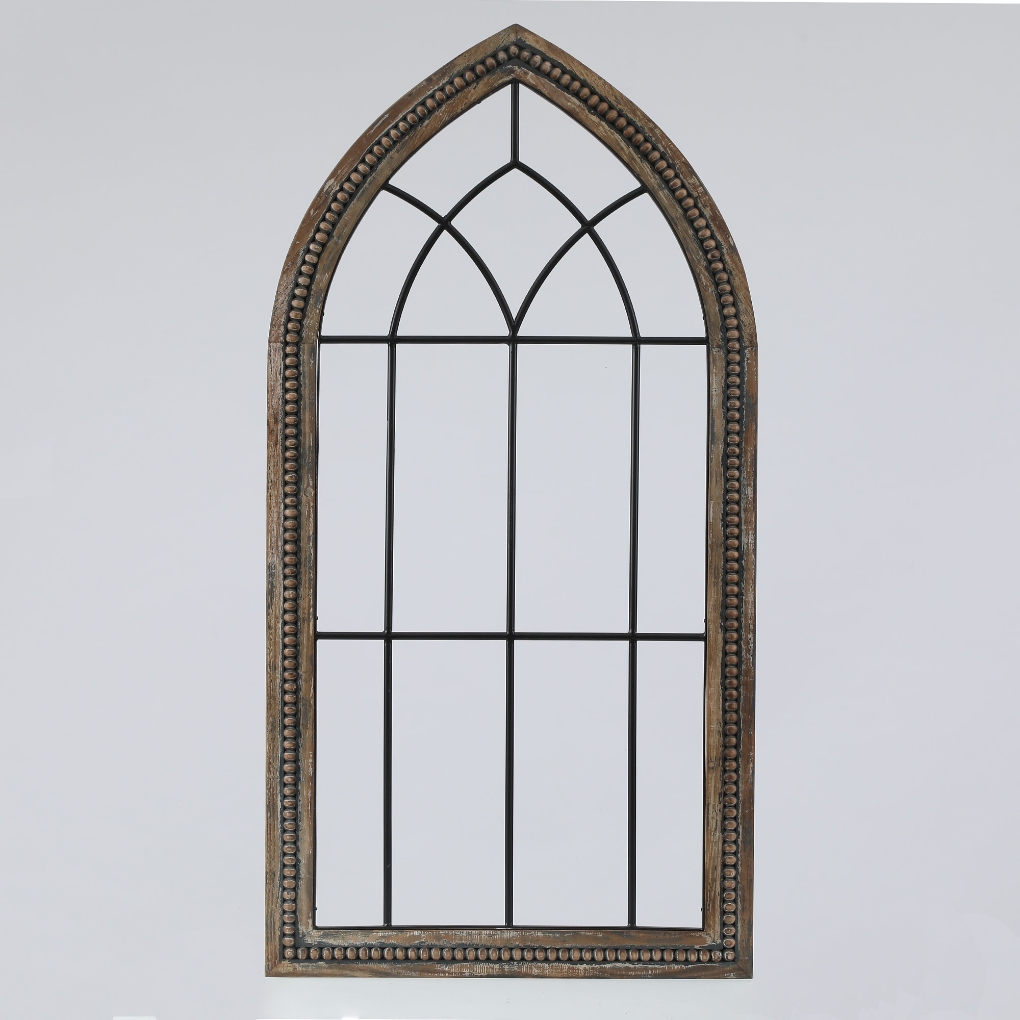 Wood And Metal Cathedral Wall Decor On Sale Overstock 29473875