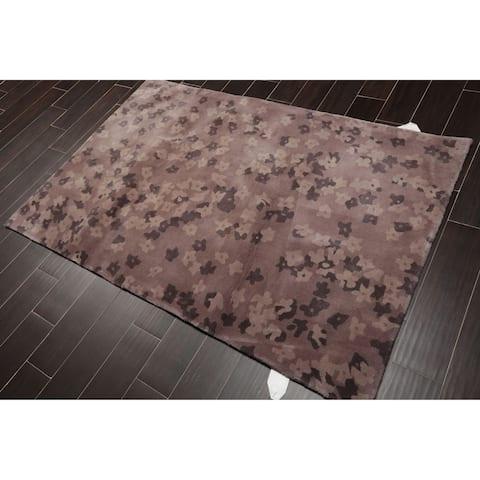 "Handmade Wool Persian Oriental Area Rug (4'x6') - 4'1"" x 6'2"""
