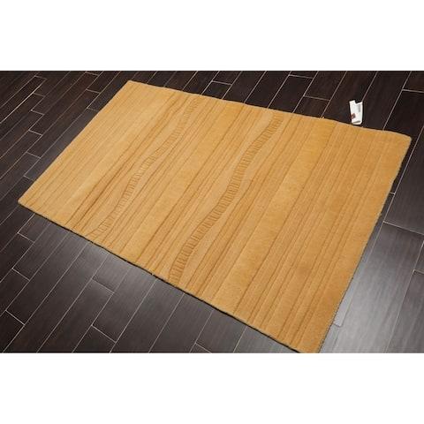 "Contemporary Handmade Wool Oriental Area Rug (3'6""x5'6"") - 3'6"" x 5'6"""