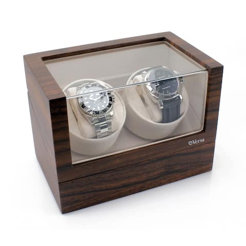 Versa Elite Double Watch Winder in Walnut