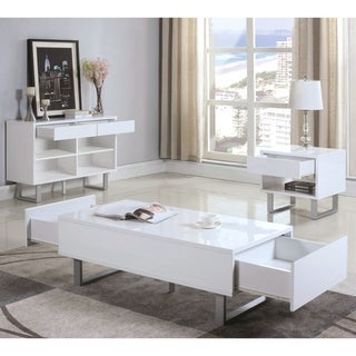 Modern Design Glossy White Living Room Table Collection