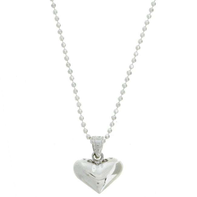 Sterling Essentials Sterling Silver 16-inch Polished Heart Necklace