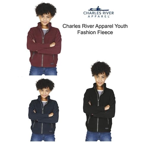 Charles River Apparel Youth Fashion Fleece Jacket