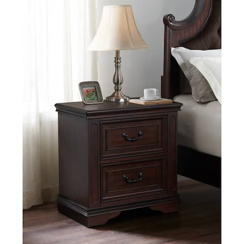 Copper Grove Hasselt 2-drawer Nightstand with USB Charger