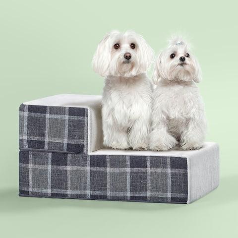 Priage by Zinus Comfort Pet StairGrey Pattern