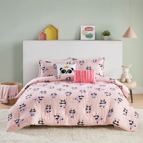 Taylor & Olive Daisy Pink Cotton Reversible Comforter Set