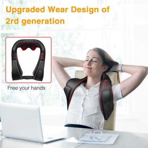 Coutlet Neck and Shoulder Massager with Waist Design for Shoulders Neck Back Waist Arms Relieve Muscle Pain