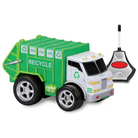 Kid Galaxy Preschool Remote Control Recycle Truck with Soft, Safe Squeezable Body