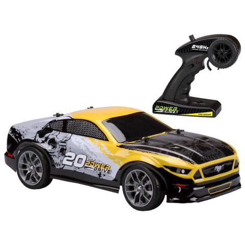 Kid Galaxy Remote Control Mustang Epic Speedmaster with 20 Volt Battery