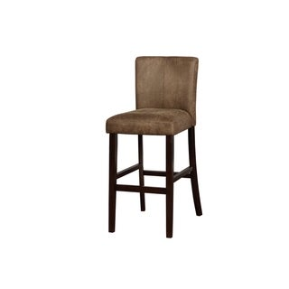 Link to Wooden Bar Stool with Unique Channel Tufting Details, Brown Similar Items in Dining Room & Bar Furniture