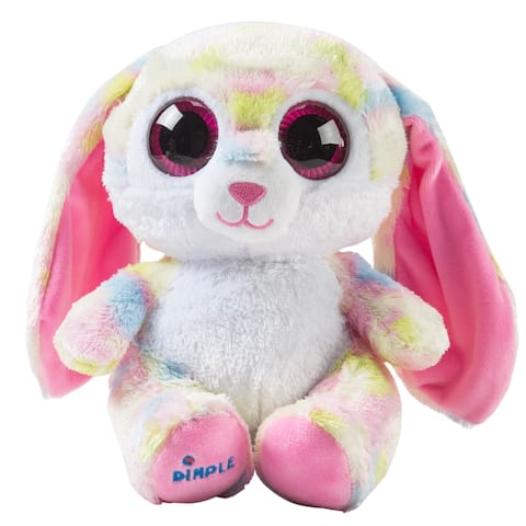 Dimple Plush Bluetooth Speaker Bunny Stuffed Hugging Animal, Music Teddy Bear With Universal Wireless Speakers & Stereo Sound