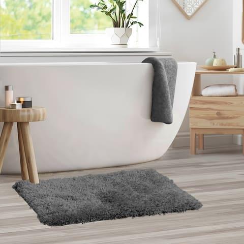 Porch & Den Lorena Shaggy/ Non-slip Rubber Backed Bath Rug