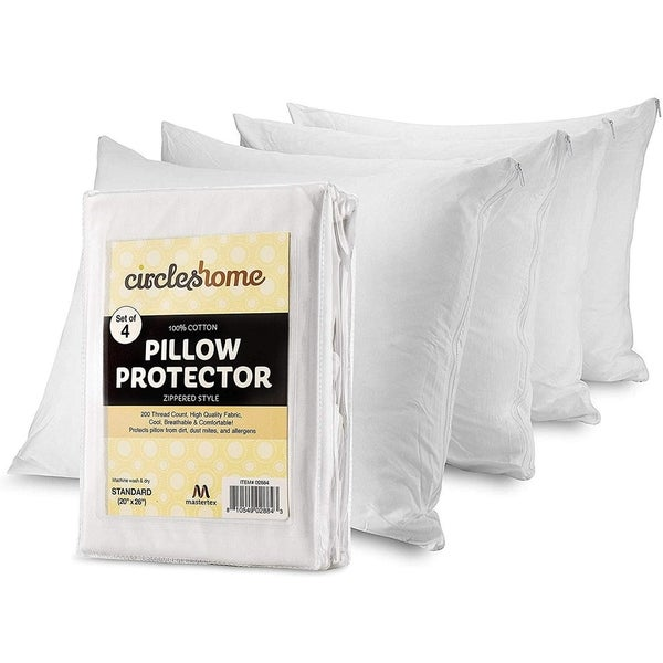 Circles Home Cotton Pillow Protector with Zippered Cover (Set of 4). Opens flyout.