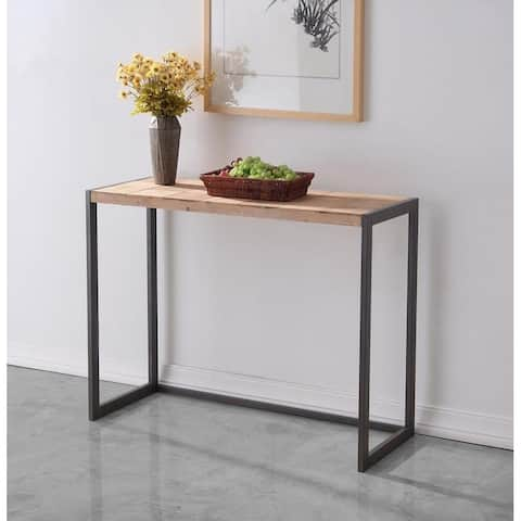 """Rally Console Table, Butcher Block Table Top - 32"""" x 42"""" - 42"""" x 16"""" x 32""""H"""
