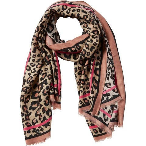 Tickled Pink Deb Leopard Scarf