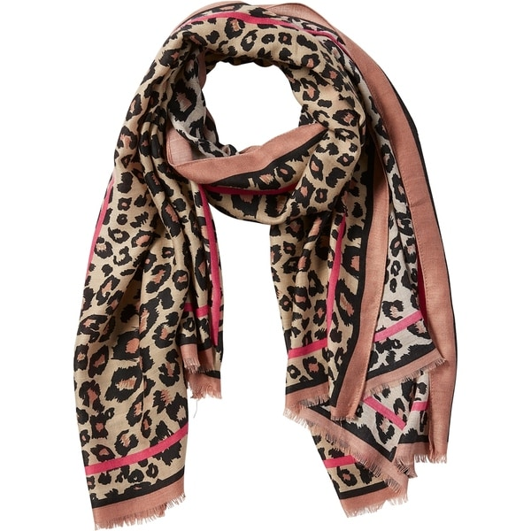 Tickled Pink Deb Leopard Scarf. Opens flyout.
