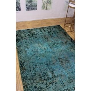 """Noori Rug Vintage Distressed Ghani Rose/Black Rug - 4'7"""" x 6'3"""""""