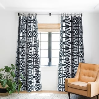 "Heather Dutton Metro Steel Blackout Curtain Panel - 96""- (As Is Item)"