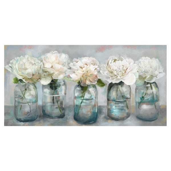 Fresh Picked Peonies by Studio Arts Wrapped Canvas Art Print. Opens flyout.
