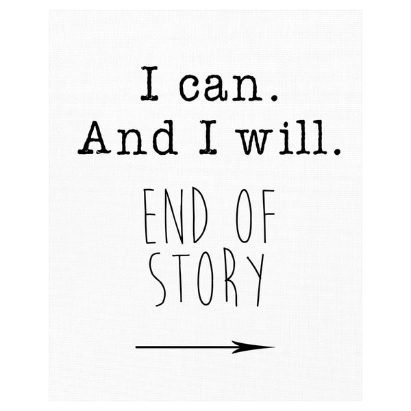 End of Story by Jan Weiss Wrapped Canvas Art Print