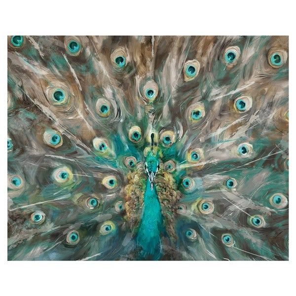 Peacock Colors by Studio Arts Wrapped Canvas Art Print