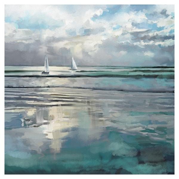 Indigo Seas by Studio Arts Wrapped Canvas Art Print