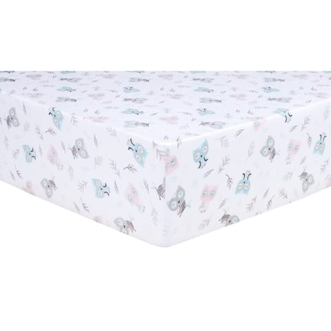 Feathered Friends Jersey Fitted Crib Sheet