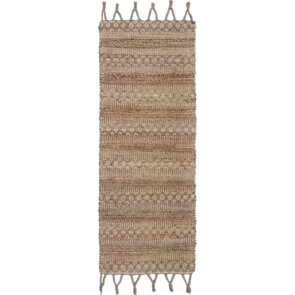 "Delicate Natural Area Rug with Bordering - 2'6"" x 3'10"""