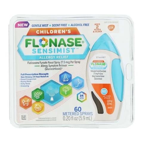 Flonase Sensimist Children's 24 Hour Allergy Relief 60 Metered Sprays 0.20oz / 5.9ml - N/A
