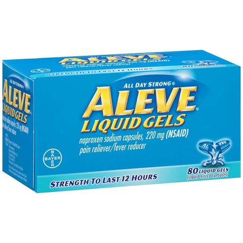 Aleve Liquid Gels Pain Reliever 80 Capsules - N/A