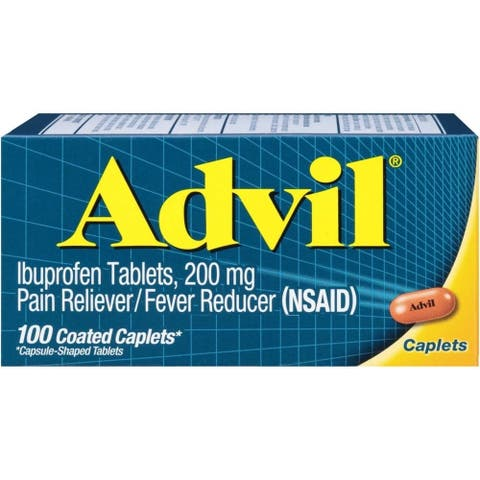Advil Pain Reliever Fever Reducer 100 Coated Caplets - N/A