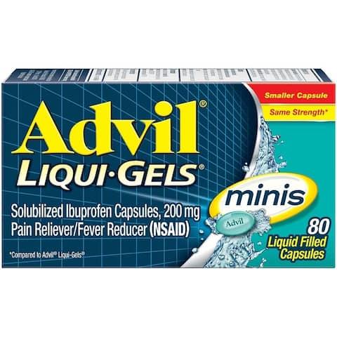 Advil Liqui Gels Minis Pain Reliever 80 Liquid Filled Capsules - N/A