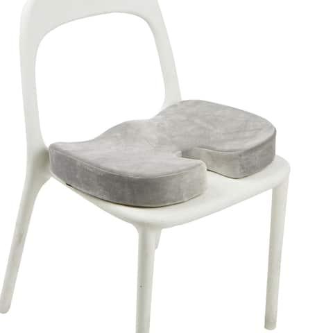 Mind Reader Memory Foam Seat Cushion, Orthopedic Cushion, Gray
