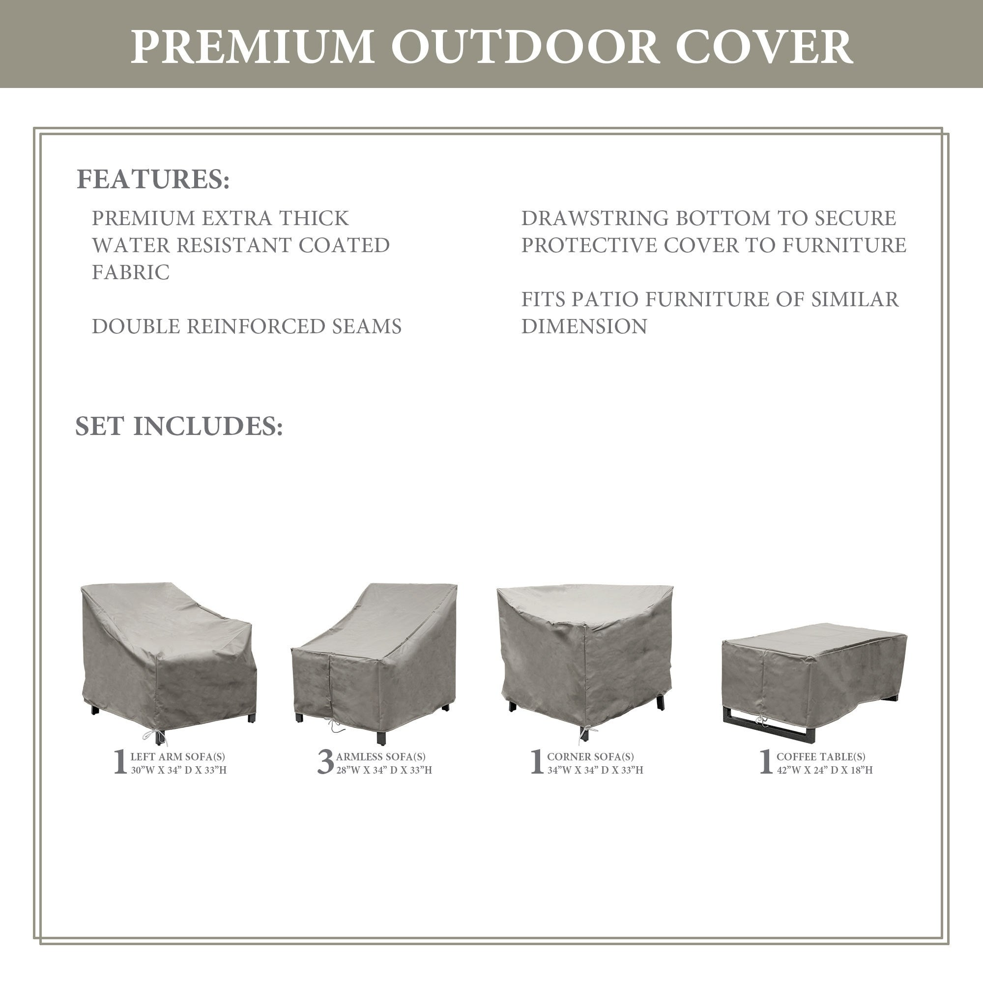 Kathy Ireland Homes Gardens Madison 06q Protective Cover Set Overstock 29486881