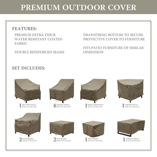 kathy ireland Homes & Gardens MADISON-13a Protective Cover Set. Opens flyout.