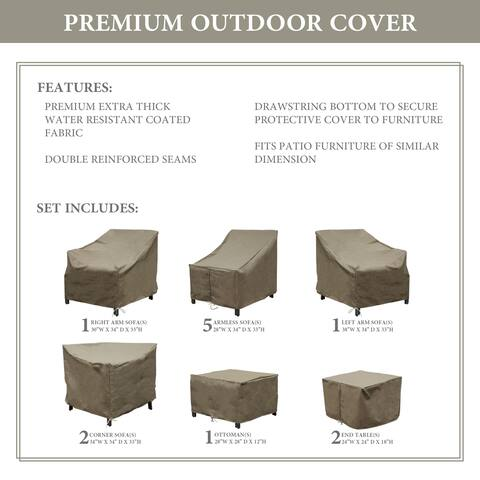 kathy ireland Homes & Gardens MADISON-12g Protective Cover Set