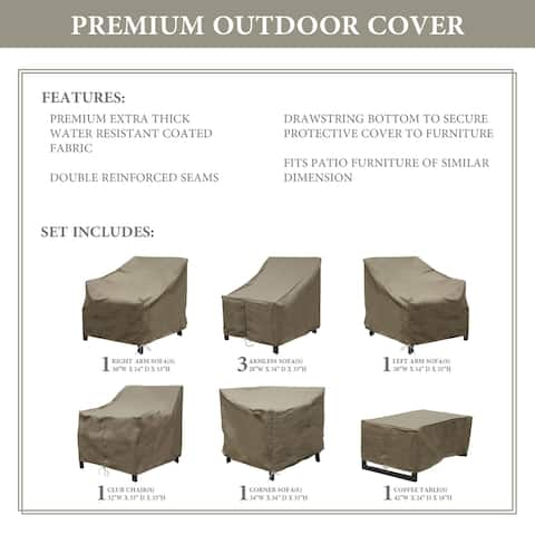 kathy ireland Homes & Gardens MADISON-08d Protective Cover Set