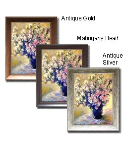 Claude Monet 'Vase of Flowers' Framed Canvas Art